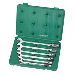 Набор ключей комбинированных с шарнирной головкой SATA 09037