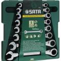 Набор ключей комбинированных с трещеточным механизмом SATA 09079