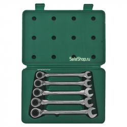 Набор ключей комбинированных с реверсивным трещеточным механизмом SATA 09083